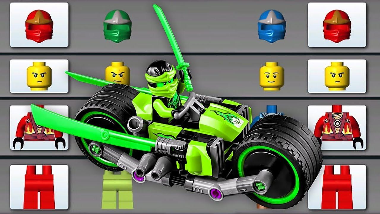 LEGO NINJAGO: RIDE NINJA ✔ LEGO MONSTER BIKE RIDE - BATTLE IN NINJAGO CITY  - LEGO Games