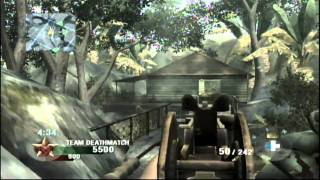 Call of Duty: Black Ops Wii Multiplayer Gameplay - TDM Jungle (29-0)