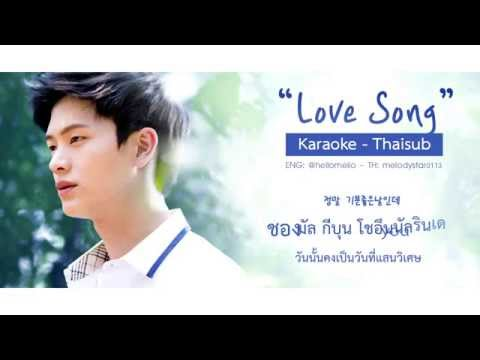 [Karaoke - Thaisub] Yook Sungjae (BTOB) - Love Song (Feat. Park Hyesoo) (School 2015 Ost. Part 8)