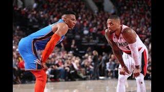 Russell Westbrook, Damian Lillard Get in Heated Exchange During OKC-Blazers Game 2