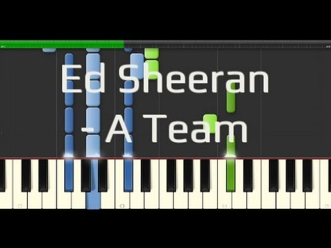 Ed Sheeran  A Team Synthesia Piano Tutorial 100% Easy