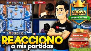 REACCIONANDO A MIS PARTIDAS VS POMPEYO😱 CCGS BRASIL 2017🏆 | ANTHONY D'ANGELO