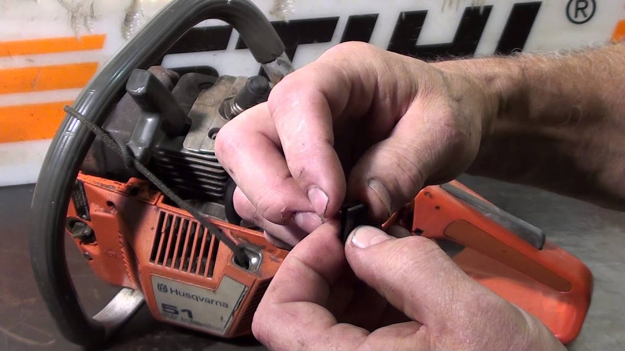 the chainsaw guy shop talk husqvarna 51 55 chainsaw linkage repair 8 28 [ 1280 x 720 Pixel ]