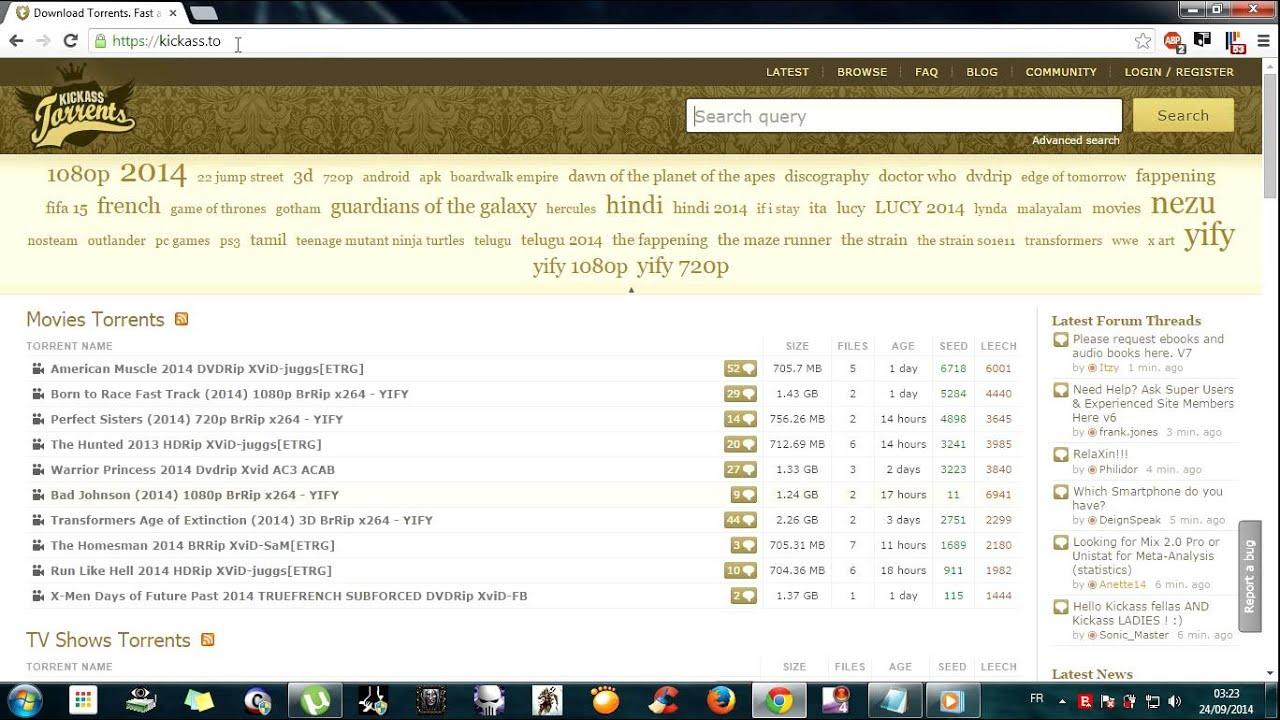 Torrent movies download.