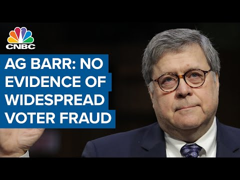 Attorney General Bill Barr says no evidence of widespread fraud in ...