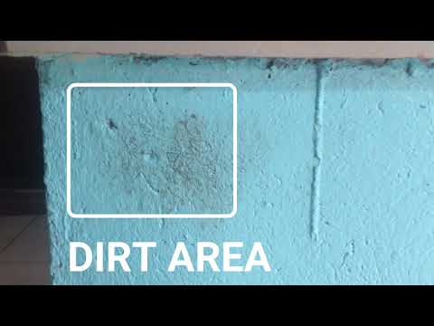TUTORIAL|HOW TO CLEAN DIRT AND STAIN ON YOUR PAINTED WALL