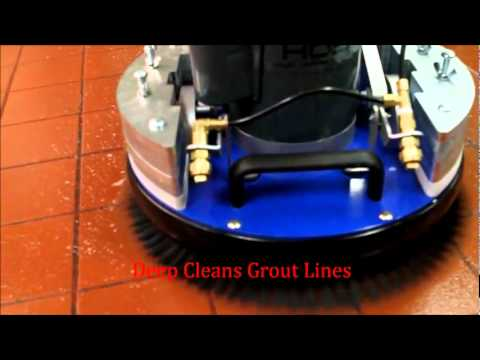 Tile Grout Hard Surface Cleaning Machine Orbot Orbital Drive Technology