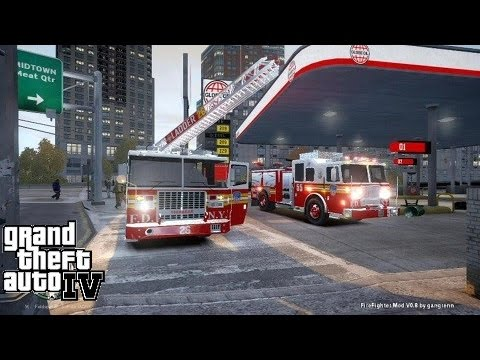 GTA IV FDNY Firefighter Mod | Day 6 | Crazy Day On The Truck | Ladder & Engine Responding Together