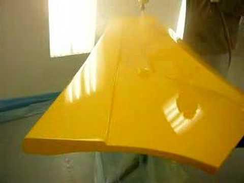 Spraying The La Bala Panels Lamborghini Yellow Youtube