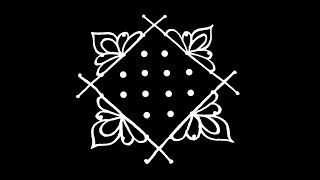 Easy Rangoli Design with 8X2X2 Dots | Kolam Designs | Muggulu Designs | Rangoli | Kolam | Muggulu