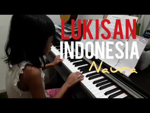 Naura - Lukisan Indonesia - piano by Chica