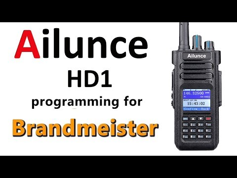 Ailunce HD1 simple codeplug for Brandmeister and hotspot