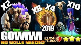 EASY 8 QUAKE & 4 QUAKE WITCH SLAP BEST TH 9 3 STAR ATTACK STRATEGY | Clash of Clans