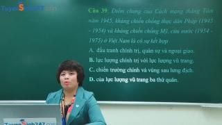 Hướng dẫn giải đề thi minh hoạ kỳ thi THPT QG môn Lịch sử năm 2019 – Cô Lê Thu