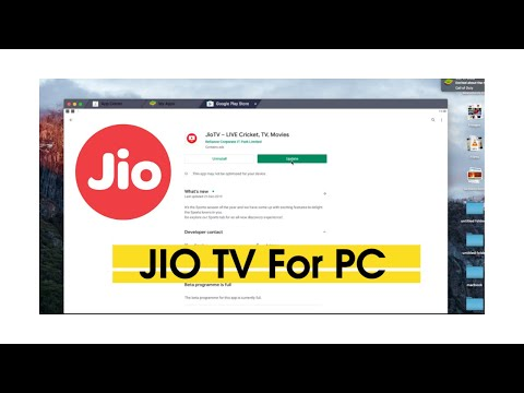JIO TV For PC Computer And Laptop (Windows/Mac)