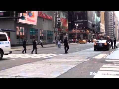 Knifeman on the loose in Times Square shot dead by police