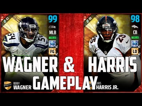 TOTY 99 BOBBY WAGNER and 98 CHRIS HARRIS JR. Gameplay! - MUT 17