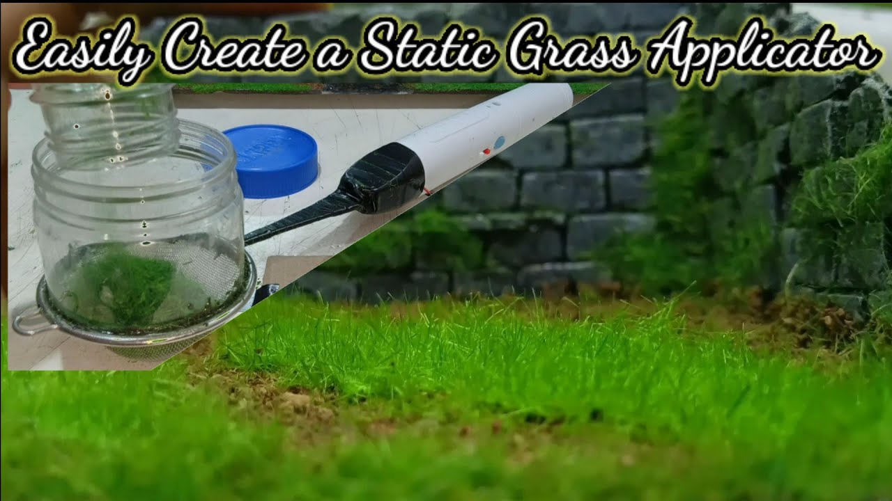 Easyly Create a Static Grass Applicator Homemade - Cara Membuat Static Grass Applicator