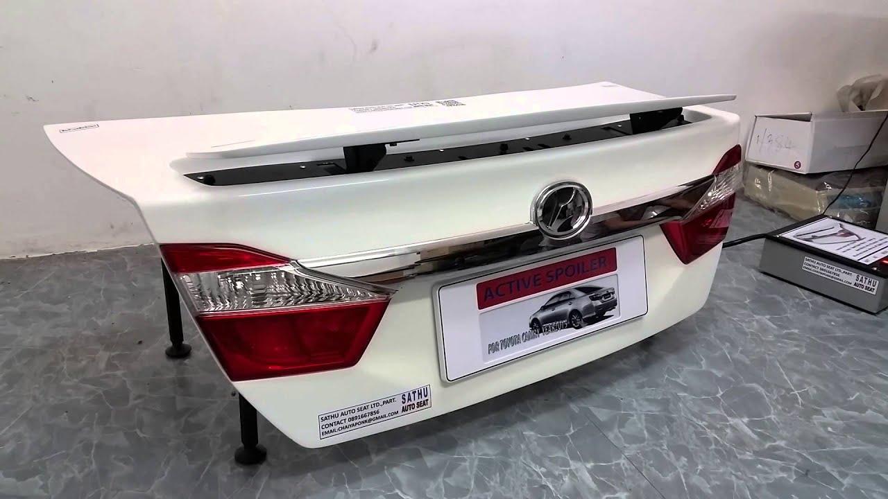 toyota camry active spoiler youtube rh youtube com Toyota 4Runner Engine Wiring Harness Toyota Wire Harness Repair Kit