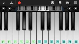 Mere rashke qamar easy piano