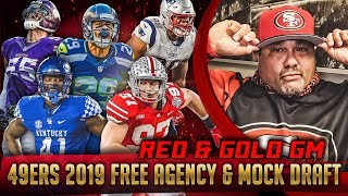 Live! 49ers Free Agency & Mock Draft 2019 - Ronbo Sports Red & Gold GM EP 2