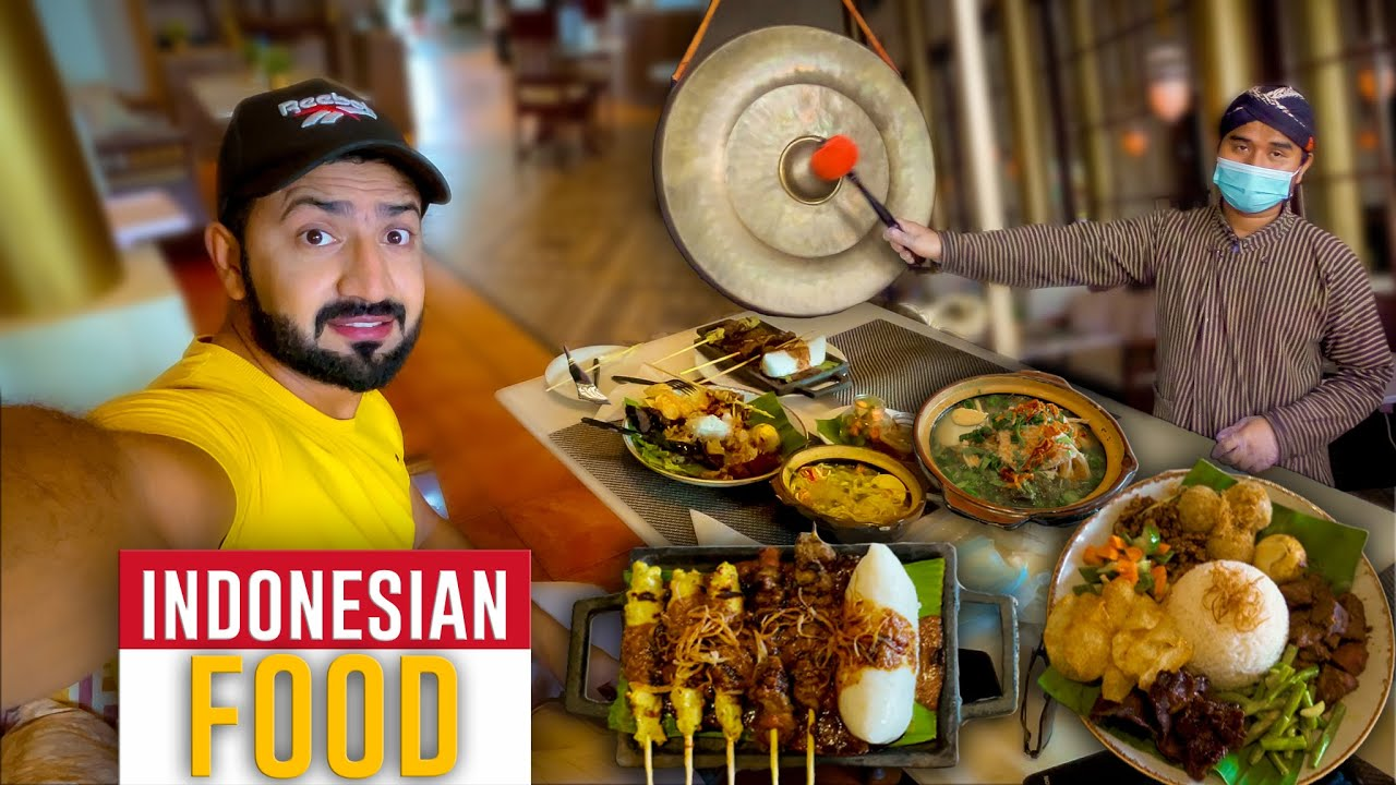 Trying INDONESIAN FOOD 🇮🇩 like Organic Food in Jeddah 🇸🇦 Its Indonesian Street Food in Luxury Style
