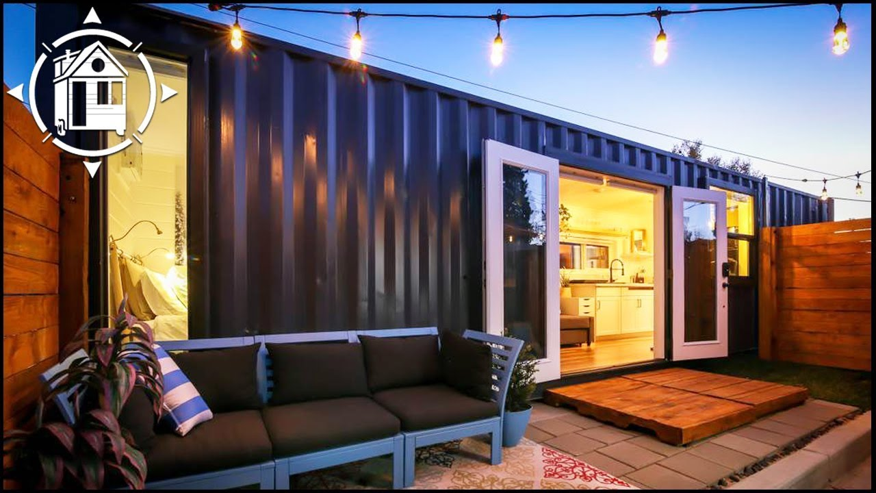 Shipping Container Becomes Fabulous Backyard Tiny Home ...