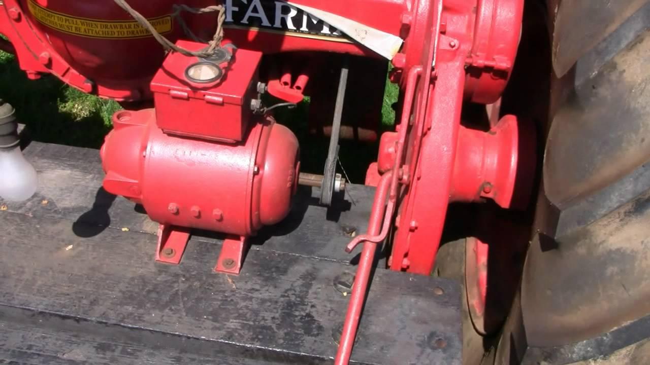 Farmall Tractor With Generator  U0026 Starter F-20