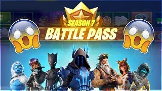 Fortnite Season 7 Battlepass All Skins Gliders Wraps Toys Emotes Sprays Emoticons Pets and Contrails