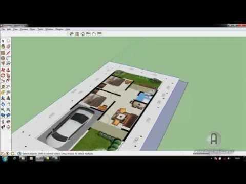 cara membuat denah 3d import gambar jpg dengan sketch up 8