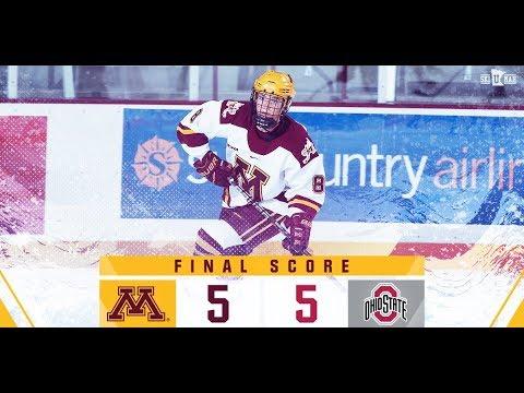 Highlights: Gopher Hockey Ties Ohio State 5-5