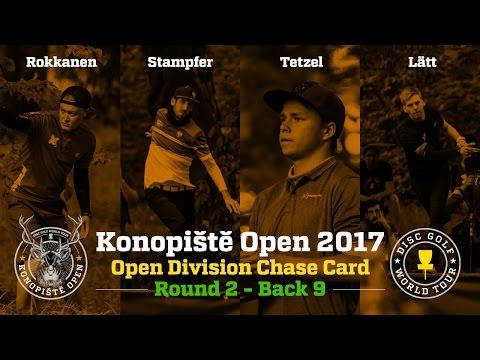 2017 Konopiště Open Chase Card Round 2 Back 9 (Rokkanen, Stampfer, Tetzel, Lätt)