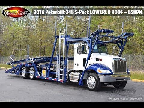 Sold 2016 Peterbilt 348 5 Pack Lowered Roof 8589n W