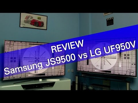 Samsung JS9500 SUHD vs LG UF950V Ultra HD TV review