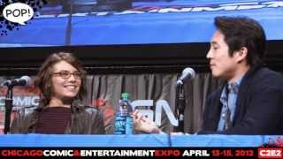 C2E2 '12 Video: 'The Walking Dead' Q&A, Steven Yeun & Lauren Cohan! PanelsOnPages.com! thumbnail