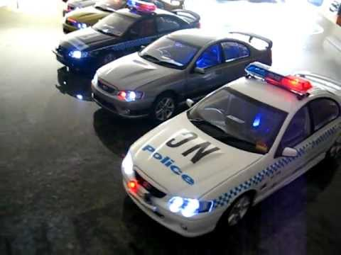 6 X Nsw Australia Police Fully Lit Led 1 18th Model Cars