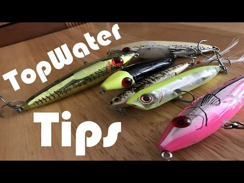 TopWater Tips!!   Conditions, Colors, Size, Rattles, And More