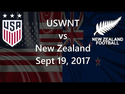 USWNT vs New Zealand Sept 19, 2017