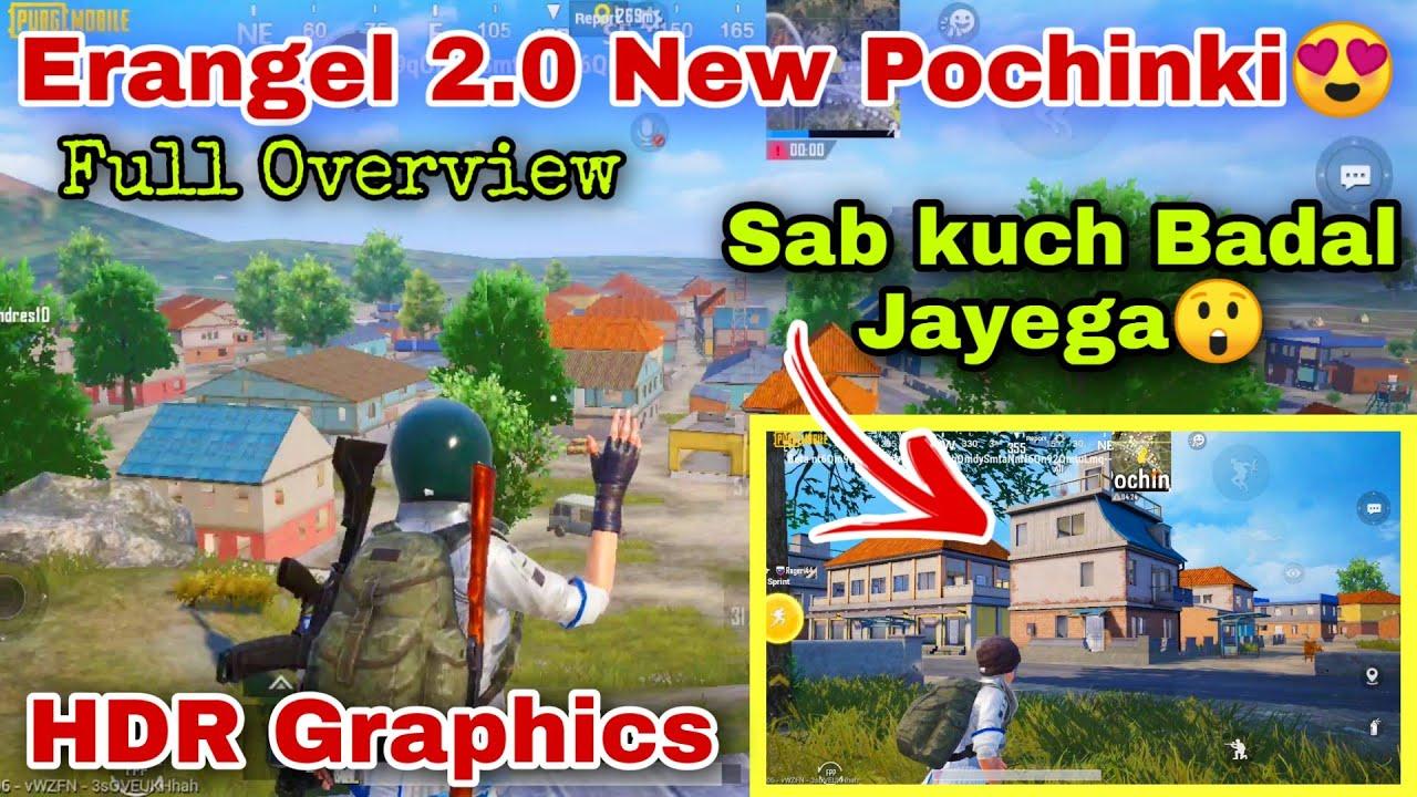Erangel 2.0 Pochinki Full Overview In HDR Graphics   Pochinki All New Changes In Erangel 2.0