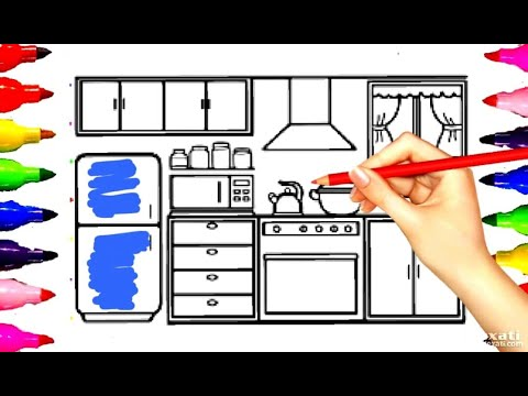 kitchen-room-coloring-pages|painting|-learning-for-kids-art-time-glitters-pen-&-markers|boys-&-girls