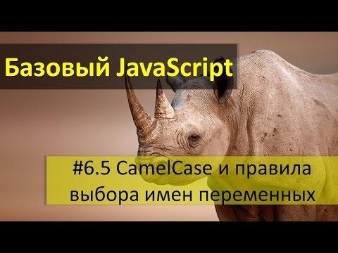 Простые правила выбора имени JavaScript переменной  CamelCase или верблюжья нотация