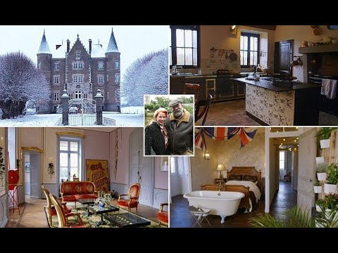 Dick and Angel Strawbridge  off their 45room French chateau