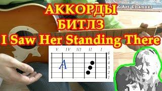 I Saw her standing there Аккорды песен Битлз на гитаре Разбор Табы видео Урок