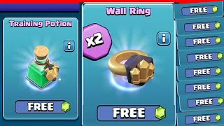 FREE MAGIC ITEMS!!FREE WALL RING!! WOW CLASH OF CLANS NEW TRADER UPDATE!!