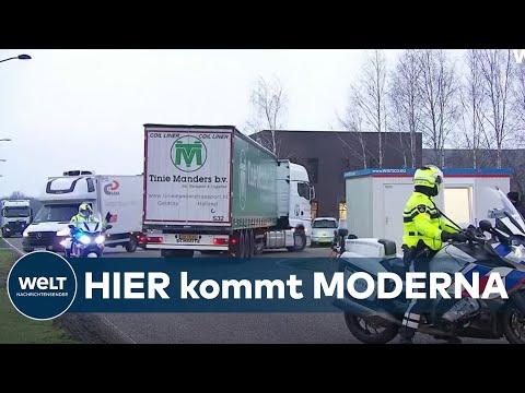 KAMPF GEGEN CORONA: Erste Lieferung – Moderna-Impfstoff in Deutschland angekommen