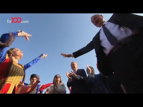 Şuşa'da Aliyev dans etti, Cumhurbaşkanı Erdoğan alkışladı!
