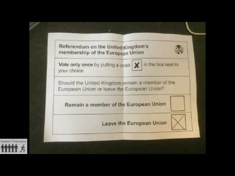 FP050 Why I voted to leave the EU
