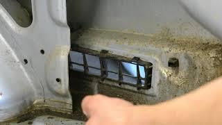 Hyundai Accent 2. Решетки вентиляции. Откуда пыль и вода в багажнике?