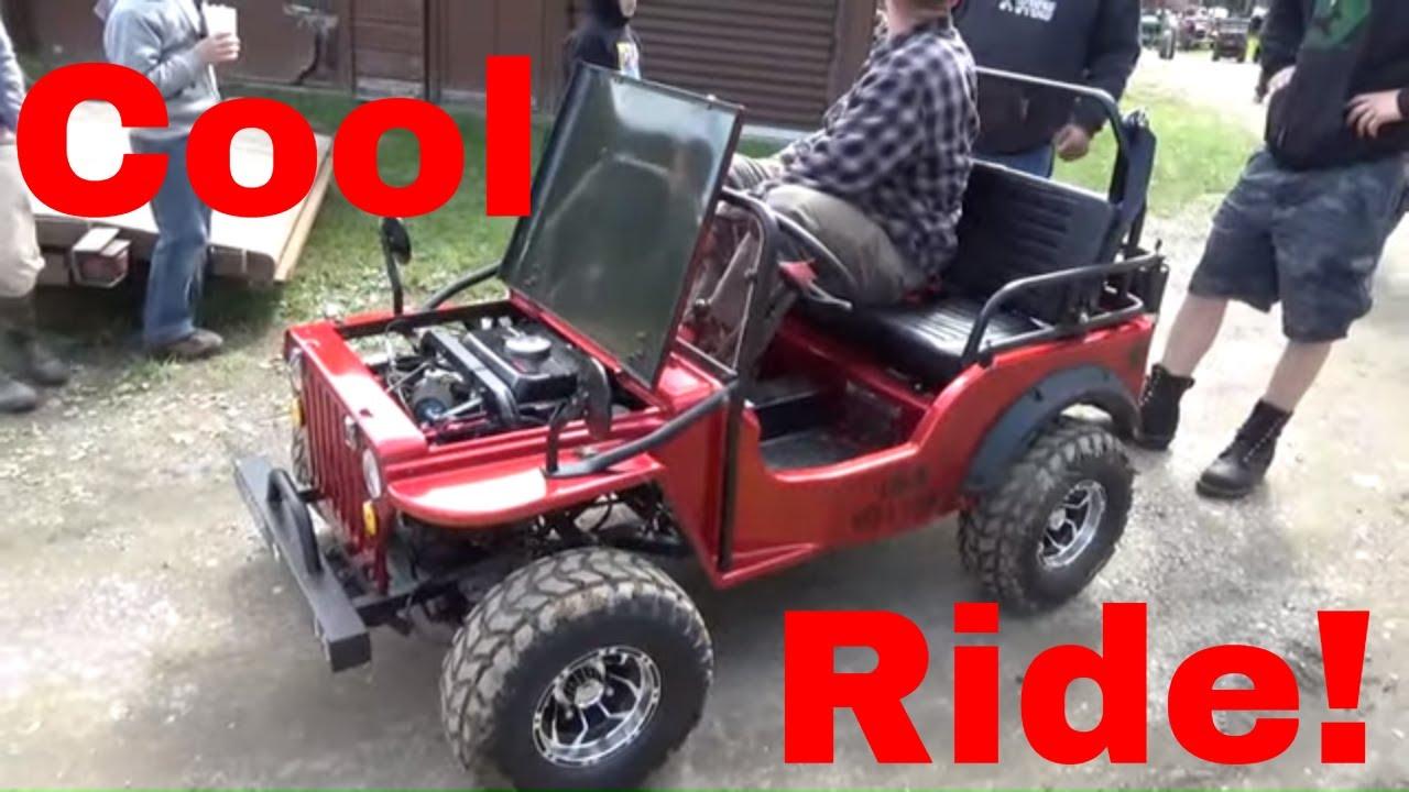 Coolster 125cc Jeep Go Kart, 3-Speed Semi-Auto, Reverse, Chrome Wheels!
