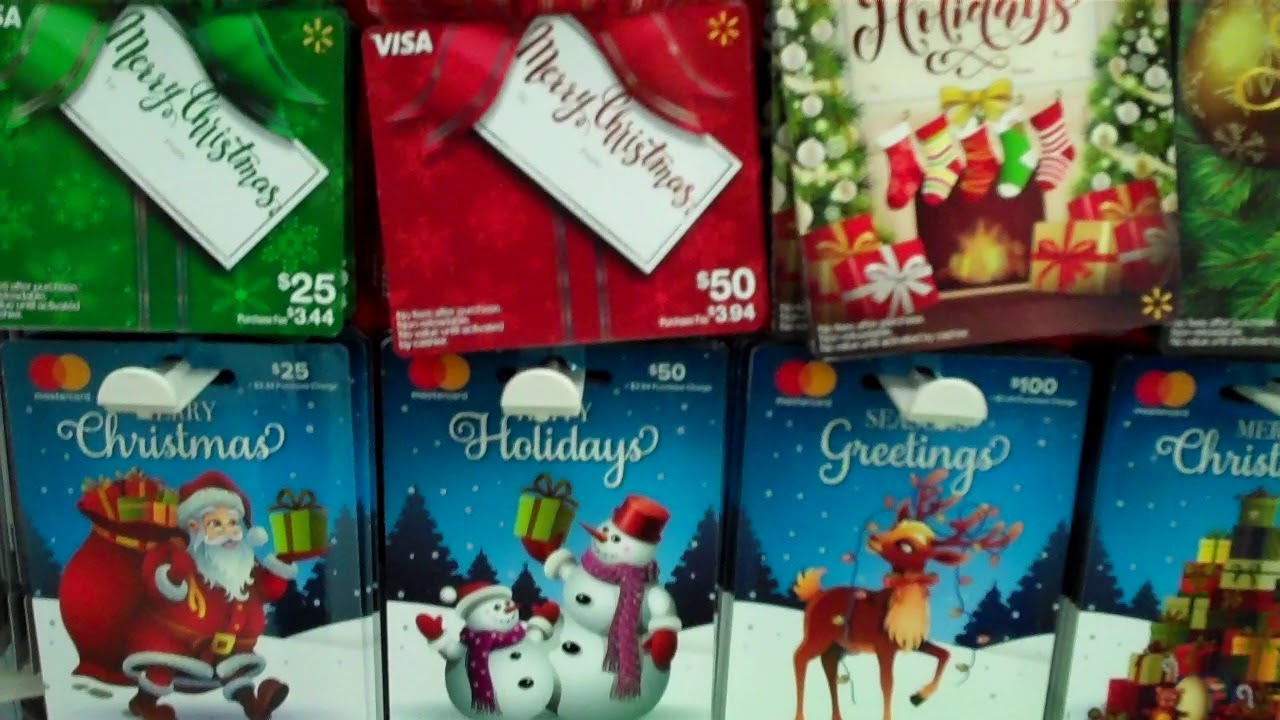 Christmas Gift Cards at Walmart 2017 Part 1 - YouTube